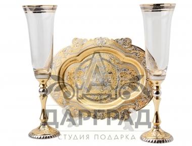 """Заказать Набор для шампанского """"Дуэт"""" (Златоуст) в Петербурге"""