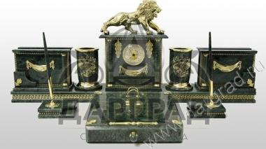 Заказать Настольный набор из мрамора «Лев» в интернет магазине подарков с доставкой