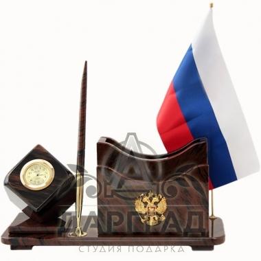 """Купить Настольный набор из обсидиана """"Люкс-2"""" в магазине подарков петербурга"""
