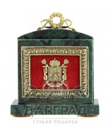 Настольная визитница «Петербург» из мрамора