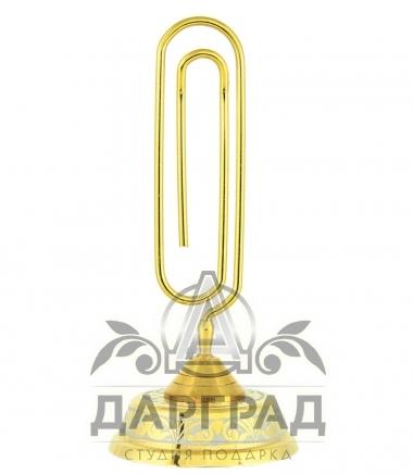 Настольная визитница «Скрепка» Златоуст