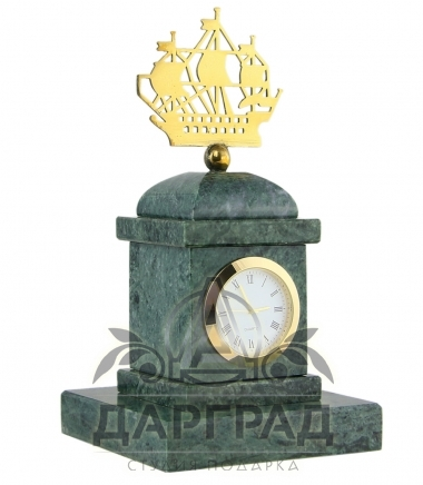 Настольные часы «Адмиралтейство» из мрамора