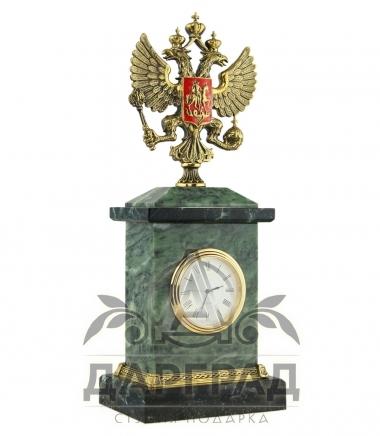кабинетные часы из камня и бронзы