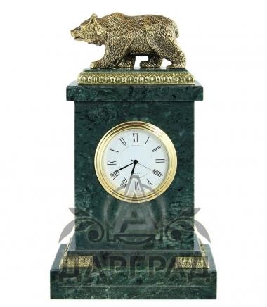 Настольные часы «Медведь» мрамор в магазине подарков Дарград СПб