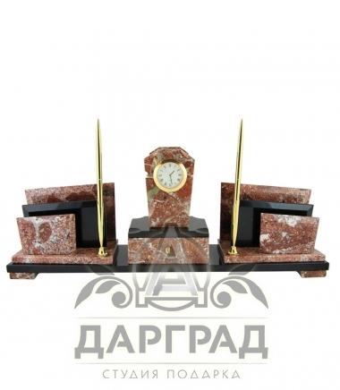 Настольный набор «Олимп» из натурального камня