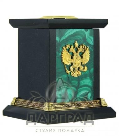 Настольный набор «Орел» (малахит)