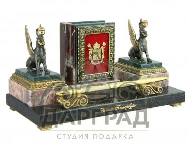 Подарок руководителю Настольный прибор «Летопись Петербурга» Грифоны купить в СПб