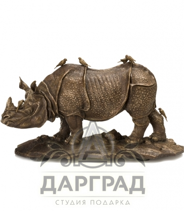 """Авторская Скульптура """"Носорог"""" эксклюзивный подарок мужчине"""