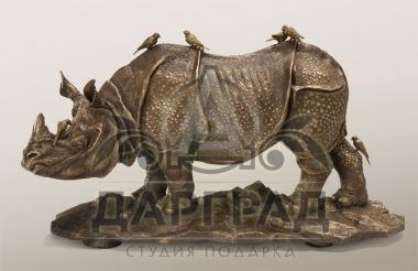 """Скульптура """"Носорог"""" из бронзы купить в магазине подарков Дарград"""