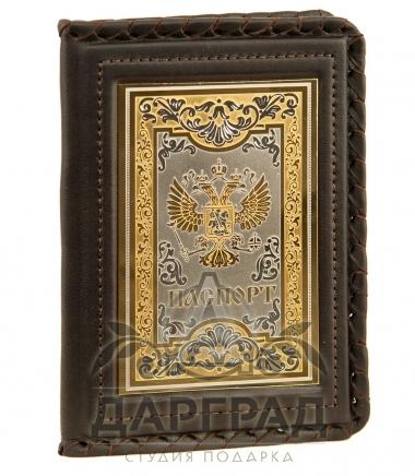 Обложка для паспорта с гербом златоуст