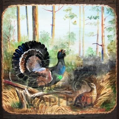"""Картина на дереве """"Глухари"""" фото 2"""