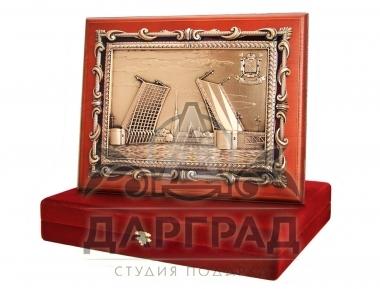 Подарок из Петербурга Кабинетное панно «Дворцовый мост»
