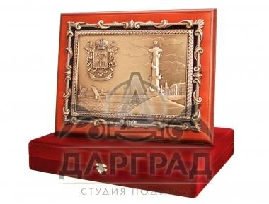 Заказать подарок Кабинетное панно «Стрелка Васильевского острова» руководителю