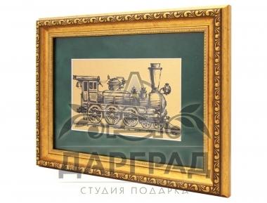 Заказать Панно на металле «Ретро-паровоз» в Москве и Петербурге