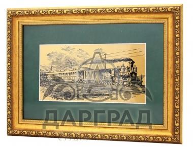 Заказать Интерьерное панно «Железная дорога» с доставкой по Москве и СПб