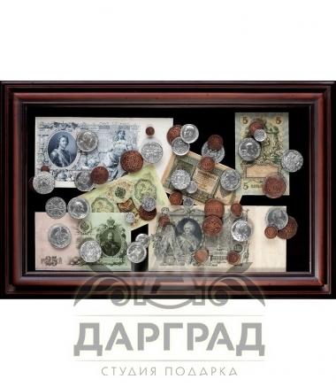 Панно «Денежное обращение России» купить в магазине подарков Дарград