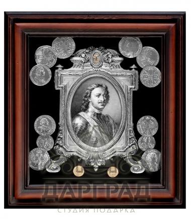Купить Панно с монетами «Петр I» подарок мужчине руководителю