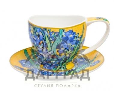 """Чайная пара """"Ирисы"""" в подарок женщине"""