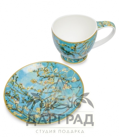 """Купить Чайная пара """"Ветки цветущего миндаля"""" в подарок женщине"""