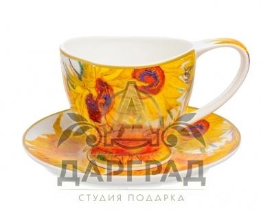 """Чайная пара """"Подсолнухи"""" в магазине подарков Дарград"""