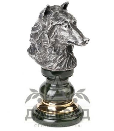 """Купить Оснастка для печати """"Волк"""" из натурального камня"""