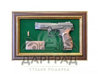 """Подарок полицейскому Панно пистолет """"Ярыгин"""""""
