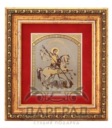 Купить Подарочная плакетка «Георгий Победоносец» (Златоуст) в подарок директору