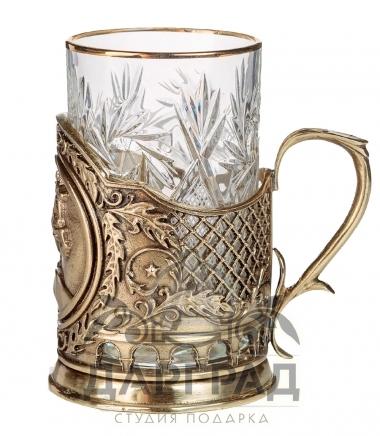 Подарок с символикой СПб Подстаканник «Медный всадник»