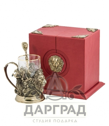 """Купить Подстаканник """"Лев"""" в подарочной коробке"""