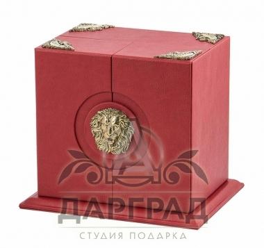 """Подарок руководителю Подстаканник """"Лев"""" в подарочной коробке"""
