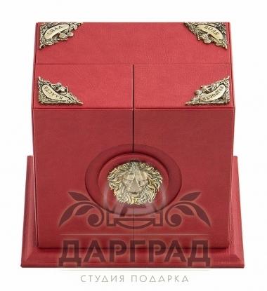 Подстаканник «Лев» в подарочной коробке