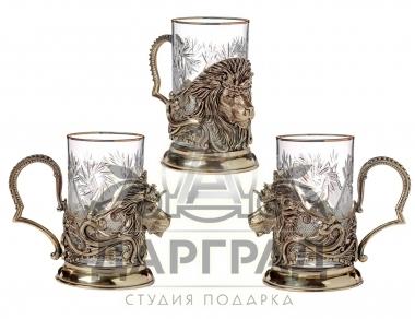 Подстаканник «Лев с короной» как подарок руководителю купить в СПб