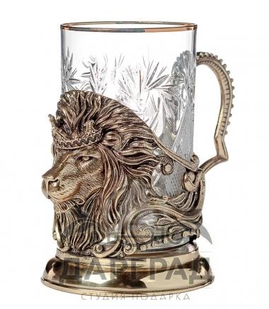 Подстаканник «Лев с короной» в подарок мужчине