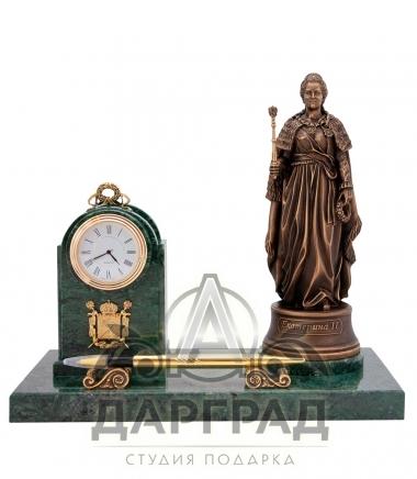 Купить деловой подарок Настольный прибор с часами «Екатерина Великая»