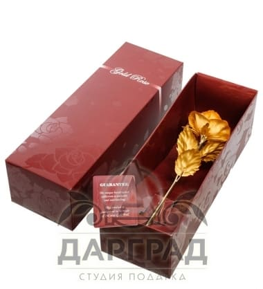 Купить Золотая роза (распустившийся бутон) в подарок женщине