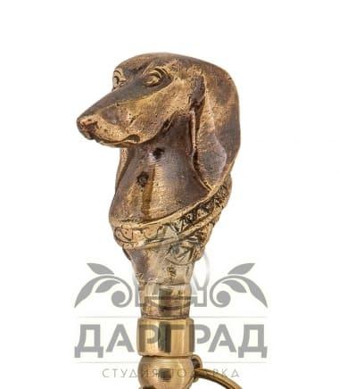 Рожок для обуви «Собака» с деревянной ручкой в подарок охотнику