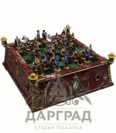 Эксклюзивные шахматы «Русско-шведская война»