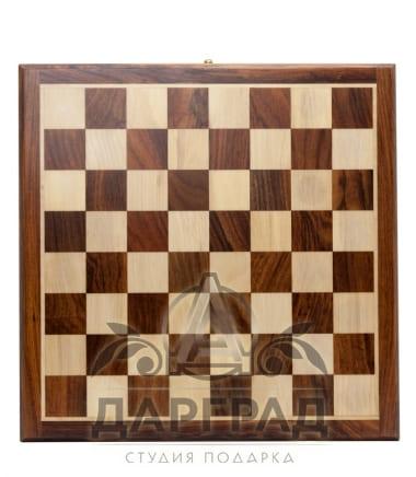 Купить в подарок Шахматная доска с ящиком (30х30см)