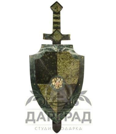 """Настенная композиция """"Щит и меч"""" купить в подарок"""