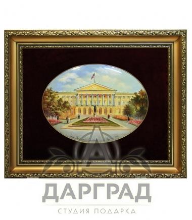 """Лаковая миниатюра """"Смольный дворец"""" фото"""
