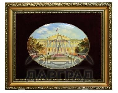 """Лаковая миниатюра """"Смольный дворец"""""""
