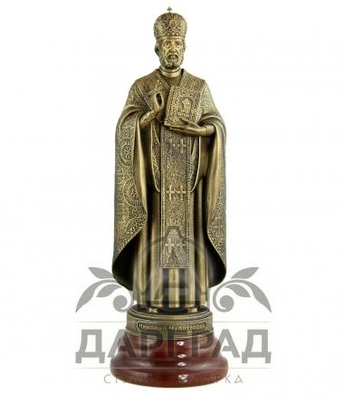 Статуэтка «Николай Чудотворец» на яшме на юбилей подарок