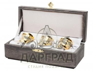 """Набор из 3-х рюмок """"Бочонок"""" (Златоуст)"""