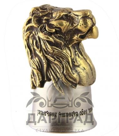Стопка «Лев» металлическая купить в подарок мужчине