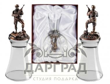 """Подарок мужчине Штрафная стопка перевертыш """"Армейская"""""""