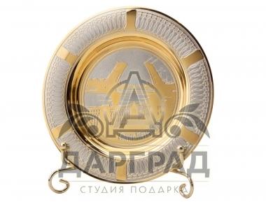 """Сувенирная тарелка """"Дворцовый мост"""" Златоуст в подарок иностранцу"""