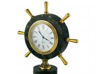морской сувенир Настольные часы «Штурвал»