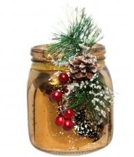 Новогодняя вазочка (золотая)