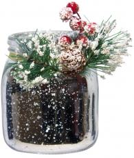 Новогодняя вазочка (серебро)