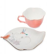 Чайная пара «Птицы» розовая